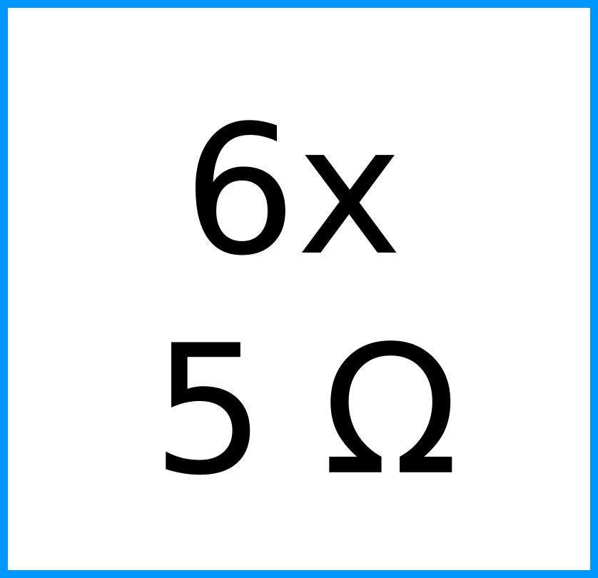 6x 5 Ohm