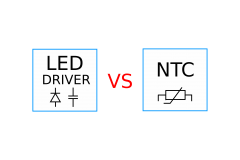 LED power supply switching using NTC thermistors ?